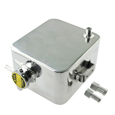 2.5L Aluminum Coolant Radiator Overflow Recovery Water Bottle Tank Pick Up