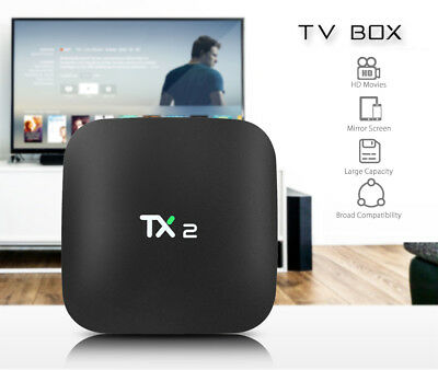 TX2 - R2 Android TV Box 2.4GHz WiFi Quad-core Support HD 4K x 2K H.265 2GB+16GB