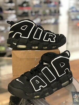 3f99868eb5a8 NIKE AIR MORE UPTEMPO PIPPEN BLACK WHITE 414962-002 2016 Sz 9.5 ...
