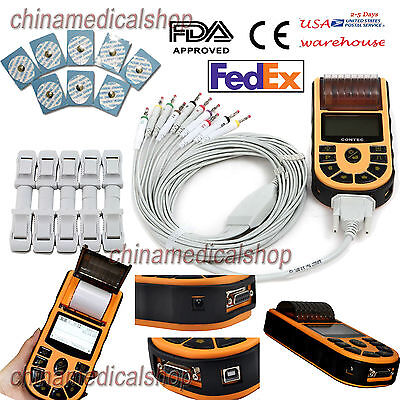 Handheld Digital Single Channel 12 Lead ECG/EKG machine Electrocardiograph FDA