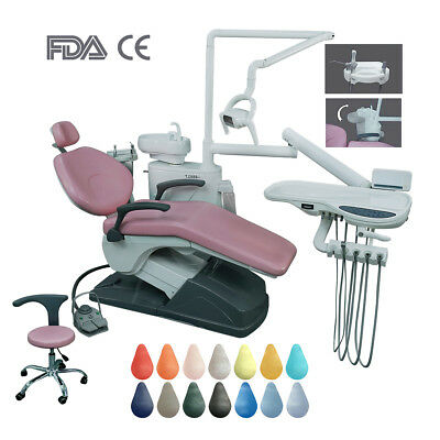 Dental Unit Chair Implant Leather Integral + Doctor Stool Fit Handpiece C