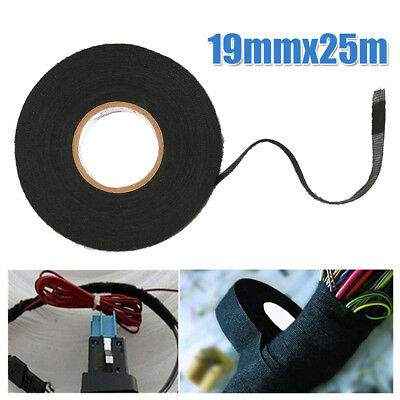 Wiring Loom Harness Adhesive Black Cloth Fabric Tape Cable Loom 15mm 19mm 32mm