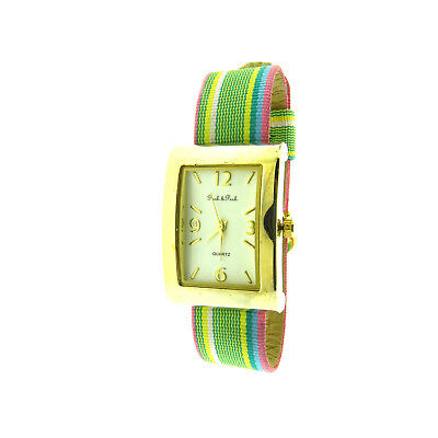 """Peck and Peck Ladies Rectangle Watch New Gold Tone 1x8"""""""