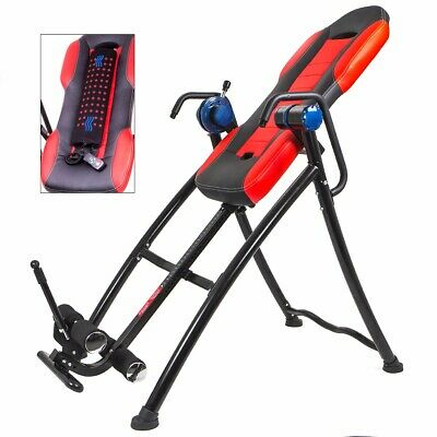 XtremepowerUS Chiropractic Gravity Inversion Therapy Table Fitness with Cushion