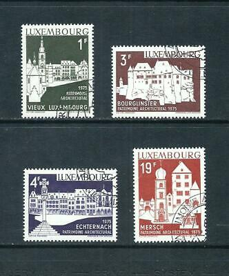 LUXEMBOURG _ 1975 'ARCHTECTURE' SET of 4 _ used ____(570)
