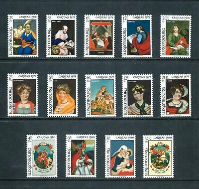 LUXEMBOURG _ 1978-80 'GLASS PAINTINGS' 3 SETS _ mnh ____(570)