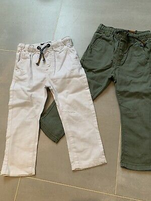Boys Next Linen Two Pairs Of Trousers Size 12/18