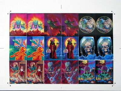 Mars Attacks Cards - Rare Uncut Printer'S Proof Sheet- Topps Screamin' 1995 Mint