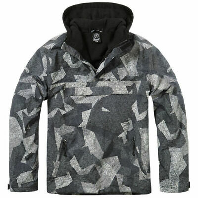 Jacket Brandit Classic Windbreaker Hooded Anorak Cadet Hiking Night Camo Digital