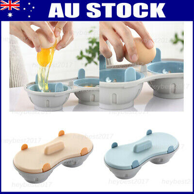 Kitchen Egg Poacher Cook Microwave Oven Poached Baking Cup Double Cooking Tools