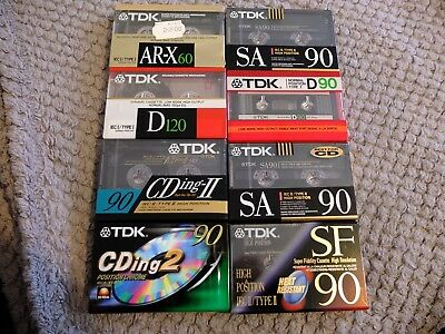 Lot 8 Cassettes audio vintages  TDK / worldwide shipping