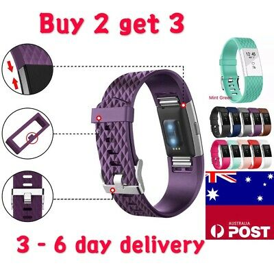 Replacement Silicone Band Wrist Band for Fitbit Charge 2 / Charge HR 2 Sports
