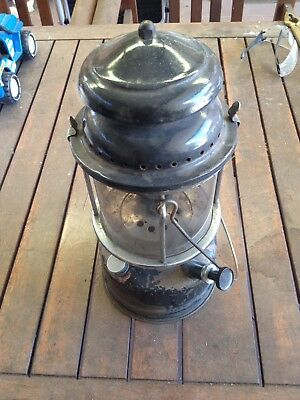 Vintage Brass Base Kero Lamp Collectable Kerosene Lantern REDUCED