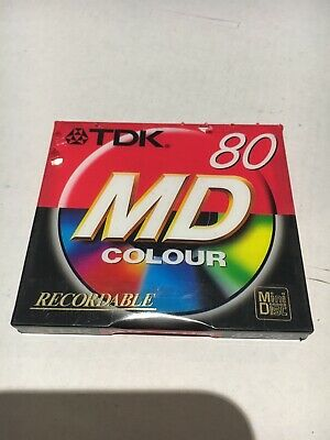 TDK 80 mins Recordable (Audio) colour MINI DISC