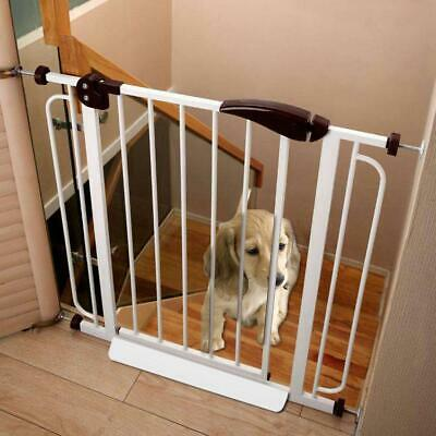 Door Walk Through Dog Pet Gate System Toddler Baby Locking Safety Easy 0HA2