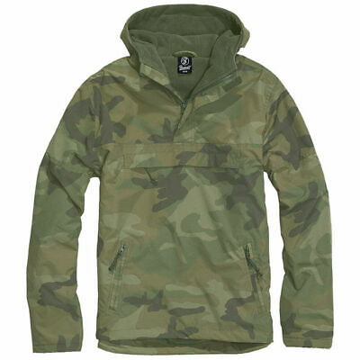 Jacket Brandit Classic Windbreaker Hooded Anorak Cadet Hiking Hunting Woodland