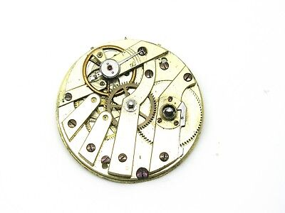 ANTIQUE Mechanical Pocket Watch Movement, Key Wind, 12266, Spares or Repairs
