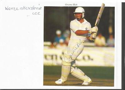 Worcestershire and England cricket Graeme Hick signed magazine cutting SSP657