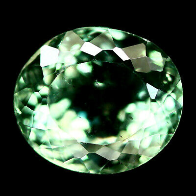 1.42 Ct Natural Green Apatite Madagascar Oval