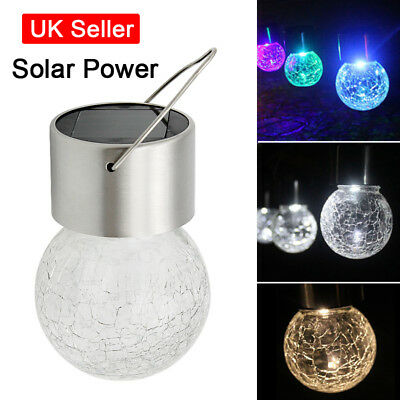 Solar Powered LED Fairy Hanging Light Outdoor Garden Decorations BBQ Party Lamp