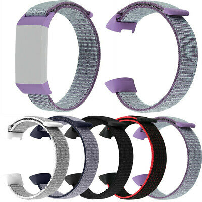 Fashion Replacement Soft Nylon Sport Loop Wrist Band Strap for Fitbit Charge 3