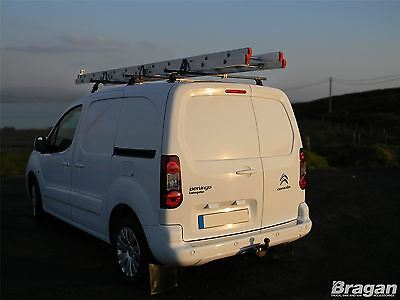 To Fit 2008+ Citroen Berlingo Solid Roof Rack Bars Rails 3 Bar Ladder System Set