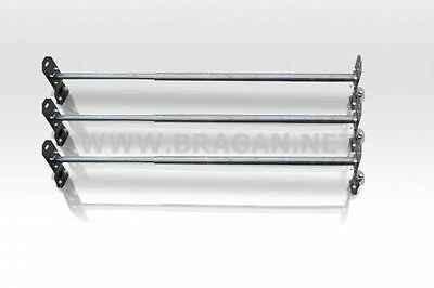 To Fit 07 - 14 Ford Transit Mk7 Medium High Roof Rack Bars Rails 3 Bar System
