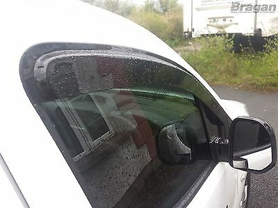 To Fit 2016 - 2019 Citroen Berlingo Smoke Tinted Wind Rain Deflectors - Adhesive