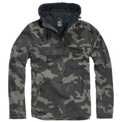 Jacket Brandit Classic Windbreaker Hooded Anorak Cadet Hiking Hunting Dark Camo