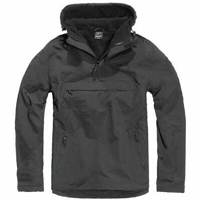 Jacket Brandit Classic Windbreaker Hooded Anorak Cadet Hiking Hunting Black