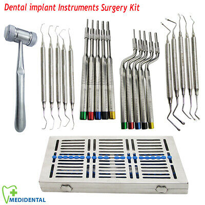 Sinus Lift instruments Mead Mallet Dental Implant Bone Surgery Kit with Cassette