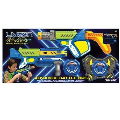 LAZER MAD Advanced Bataille Ops JEU Due Pistolets Power-ups due Cibles Laser