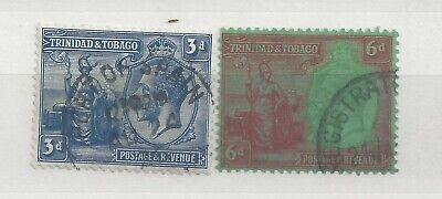 Trinidad and Tobago. George V. 3 pence and 6 pence Used