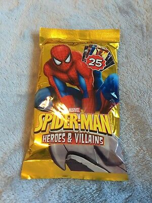 Marvel Spiderman Heroes and Villains Power Cards trading cards comic book