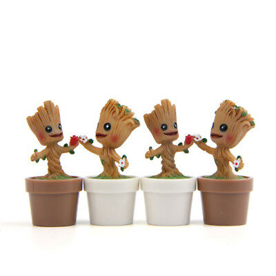 Mini Resin Groot Pot Plant Doll Guardians Of The Galaxy Figure Model Home Decor