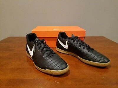 06d25eee836 New Nike Tiempox Rio Iv Ic Soccer Shoes Black White 897769 002 Mens Size 14