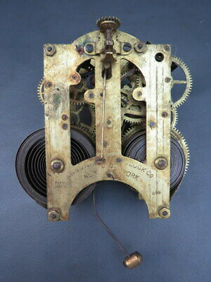 Vintage American clock movement Ansonia Clock Co USA - repair / spares