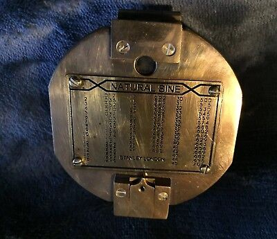 Vintage STANLEY of LONDON Brass NAUTICAL COMPASS 'Natural Sine' !!WOW!!