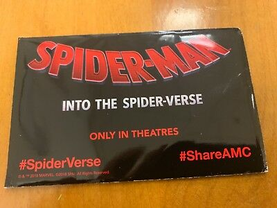 Exclusive Amc Spider-Man Into The Spider-Verse Trading Cards - New Sealed Pack