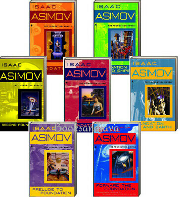 Foundation Series 1-7 Foundation, Empire, Second++by Isaac Asimov (7 Paperbacks)