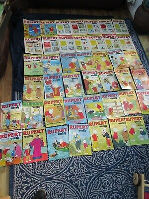 44 Rupert Weekly 1982-83 includes most numbers between 2-51 VG Condition