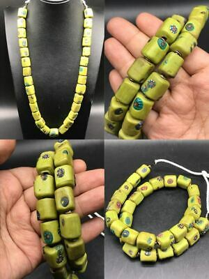 Unique rare Wonderful mosaic glass old beads Morocco #SR502