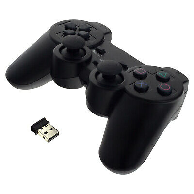 USB Wireless Gaming Controller Gamepad + Vibration for Playstation 3 PS3 PC