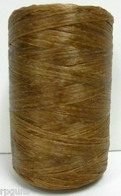 artificial SINEW Sinue leather thread beading crafts BROWN basket weaving dye