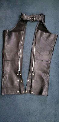 Men's Leather Motorcycle Chaps Size Small