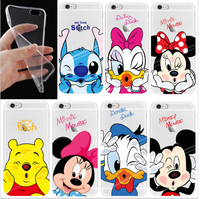 Cover Silicone Iphone 6 6s 7 7s 8 X Disney Baci Minnie