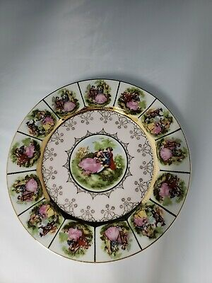 """Vintage """" A Love Story"""" Courting Couple Dinner Plate 10 3/4"""