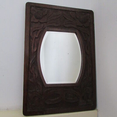 small Arts and Crafts mirror classic style wood frame