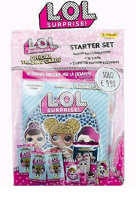 L.o.l. Lol Surprise! Starter Set Album Raccoglitore + 20 Card Figurine Panini