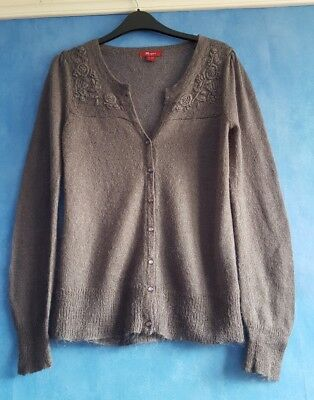 6bdc256c2a Monsoon ladies grey mohair blend knitted cardigan size 8